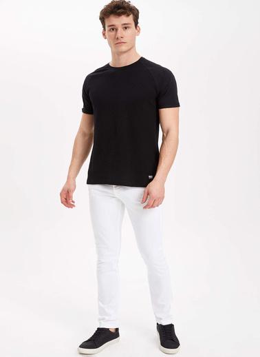 DeFacto Carlo Skinny Fit Düşük Bel Ekstra Dar Paça Pantolon Beyaz